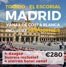 4 daagse busreis Madrid, Toledo en El Escorial (incl. paspoortreis)