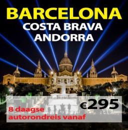 8 daagse autorondreis Barcelona-Costa Brava-Andorra