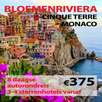 8 daagse autorondreis Italiaanse Bloemenriviera