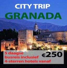 5 en 6 daagse busreizen naar Granada