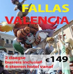 2 daagse busreis Valencia- Fallas & Albufera