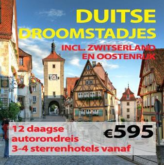 12 daagse autorondreis Duitse Droomstadjes