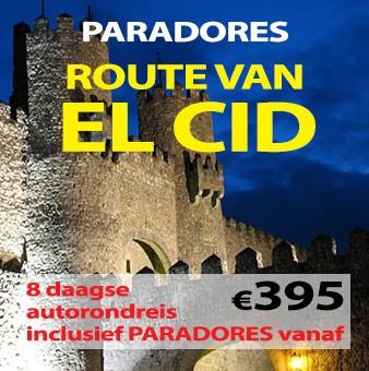 8 daagse autorondreis Paradores El Cid