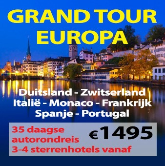 35 daagse autorondreis Grand Tour Europa