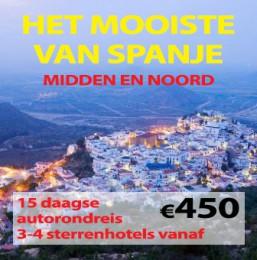 15 daagse autorondreis Het Mooiste van Spanje