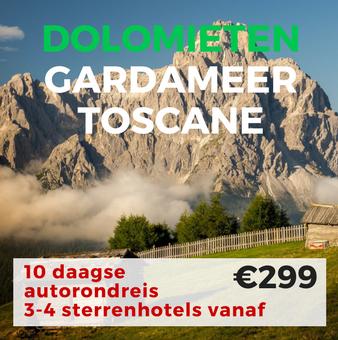 10 daagse autorondreis Gardameer, Toscane en Dolomieten