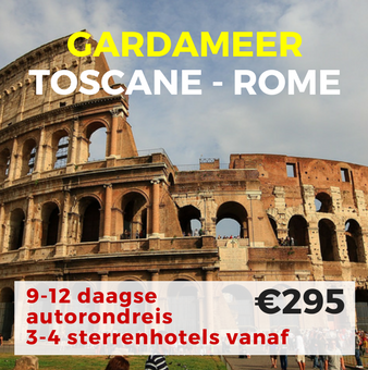 9-12 daagse autorondreis Toscana-Rome-Gardameer