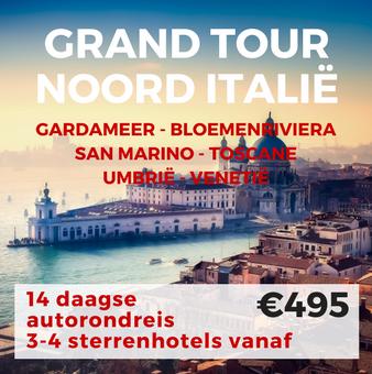 14 – 17 daagse autorondreis Grand Tour Noord Italie