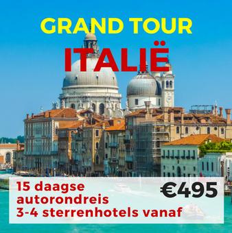 15 daagse autorondreis Grand Tour Italië