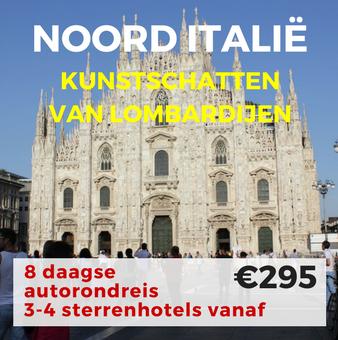 8 daagse autorondreis Kunstschatten van Lombardijen