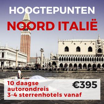 10 daagse autorondreis Hoogtepunten van Noord Italië