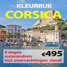 8 daagse autorondreis Kleurrijk Corsica