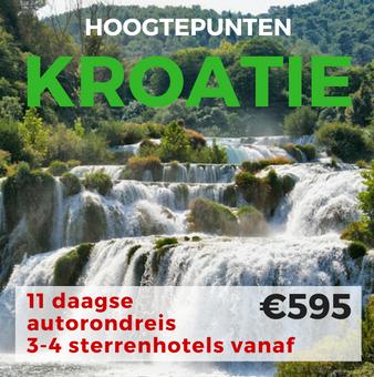 11 daagse autorondreis Hoogtepunten van Kroatië