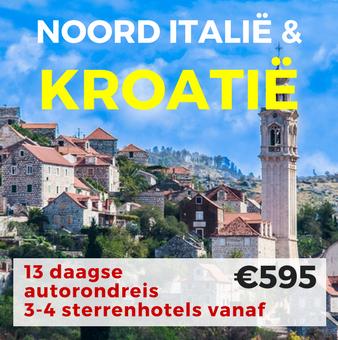 13 daagse autorondreis Noord Italië & Kroatië
