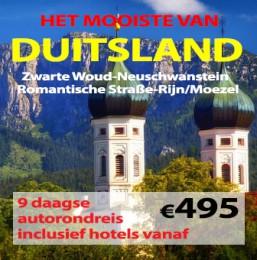 9 daagse autorondreis Mooiste van Duitsland