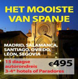 15 daagse autorondreis Mooiste van Spanje