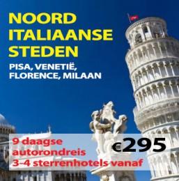 9 daagse autorondreis Noord Italiaanse Steden