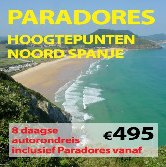 8 daagse autorondreis Hoogtepunten Paradores Noord Spanje