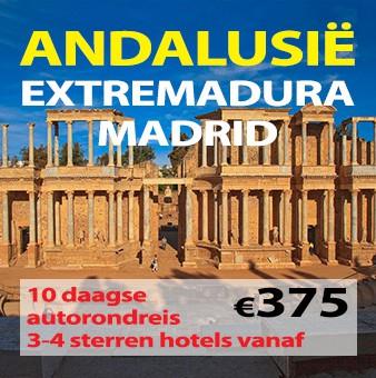 10 daagse autorondreis Madrid – Extremadura – Andalusië