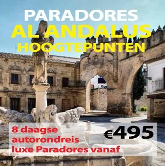 8 daagse autorondreis Paradores Hoogtepunten Al Andalus