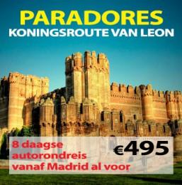 8 daagse autorondreis Paradores Koningsroute van León