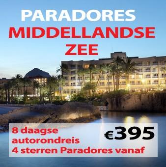 8 daagse autoreis Paradores & Middellandse Zee