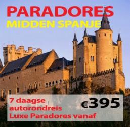 7 dagen Paradores Midden Spanje nú vanaf €395