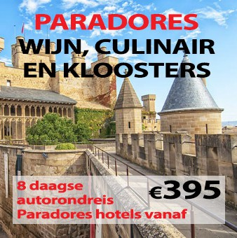8 daagse autorondreis Paradores Wijn, Culinair en Kloosters