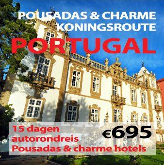 15 daagse autorondreis Pousadas/Quintas en Charme Koningsroute van Portugal