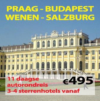 11 daagse autorondreis Praag-Budapest-Wenen-Salzburg