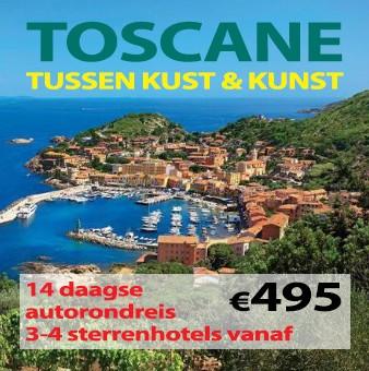 14 daagse autorondreis Toscane Kust & Kunst