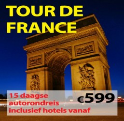 15 daagse autorondreis Tour de France