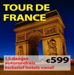 15 daagse autorondreis Tour de France
