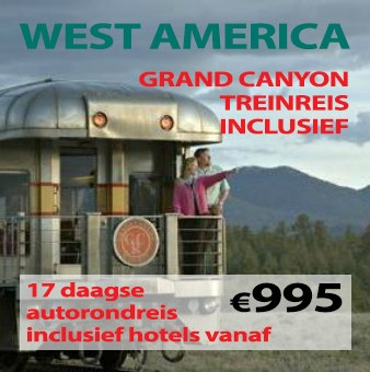 17 daagse autorondreis Westkust & Grand Canyon Railway