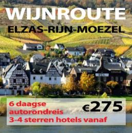 6 daagse wijnroute Elzas-Rijn-Moezel