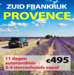11 daagse autorondreis Zuid Frankrijk & Provence