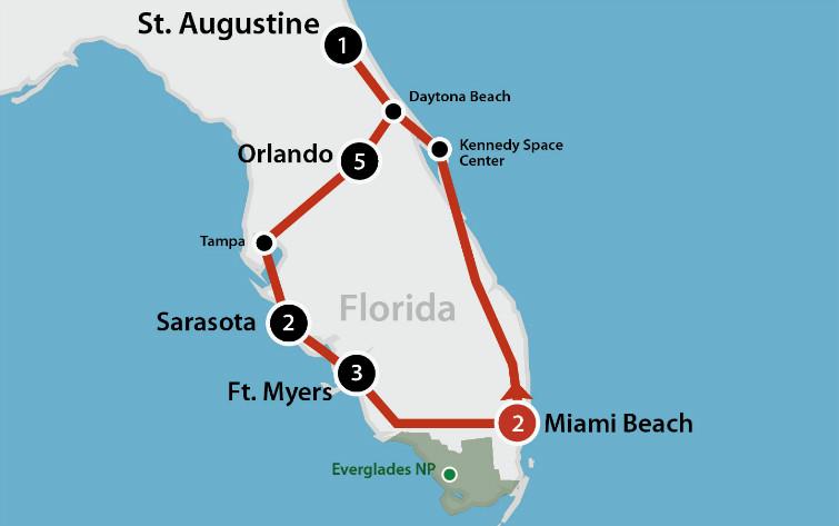 8 DAAGSE AUTORONDREIS BEAUTIFUL FLORIDA